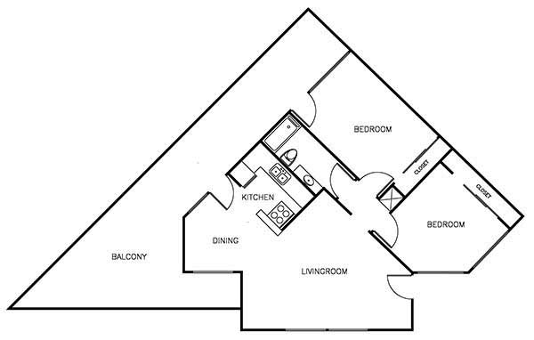 2Bedrooms/1Bathroom - 1,250 sqft
